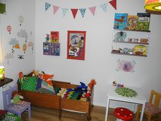 retro kids room, children room, kids room