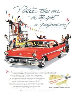 Pontiac Ad (June, 1957) - Star Chief - Pontiac takes over the top sport in performance!