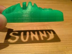 Picture of 3D printed toy car with a cut out name