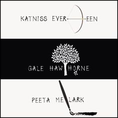 Katniss, Gale and Peeta