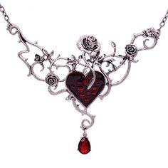 Gothic Jewelry Vintage Garden Flower Statement Necklace For Women Halloween Gothic Punk Red Blood Heart Choker Jewelry Steampunk Cute Jewelry, Boho Jewelry, Jewelry Accessories, Jewelry Necklaces, Fashion Jewelry, Jewelry Trends, Red Jewelry, Necklace Ideas, Jewellery Uk