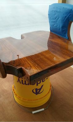 Fighting Chair seat redone with Bristol Finish Traditional Amber by Williams Marine Service.