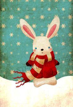 Jāzeps Osmanis / Ziema. / Baltā, mīkstā kažociņā Ziema eglēm tērpties liek. Zaķēns apsēžas uz ciņa - Arī viņam pūka tiek. Ziema, ziema, sūti sniegu, Lai uz zariem sarma zied. Sargā meža balto miegu, Bērniem ļauj ar slēpēm skriet!