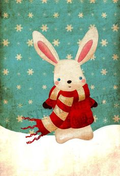 snow bunny illustration