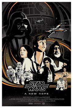 Original STAR WARS Trilogy Poster Series by Brad Bishop