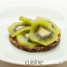 Recette sans gluten Recette vegan Recette bio tarte crue kiwi