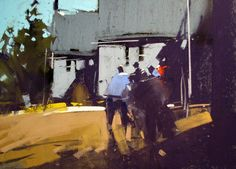 Tony Allain 'FARM BUILDINGS' pastel on sanded paper 8 x 10
