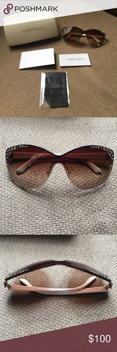 ae4cd837e2 Brand New Women's Versace Sunglasses Beautiful White and Gold Studded  Authentic Versace Sunglasses, comes with