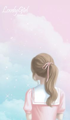 Wallpaper, art, and girl image Cute Girl Wallpaper, Cute Wallpaper Backgrounds, Cute Wallpapers, Wallpaper Art, Kawaii Wallpaper, Trendy Wallpaper, Character Illustration, Digital Illustration, Cover Wattpad