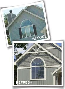 Love the board and batten vinyl siding! Not to mention the color is ...