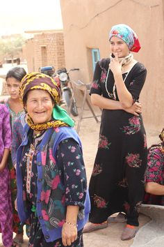 turkmenistan women wearing paisley headscarves