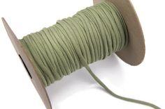 Sage Green Knit Jersey Spaghetti Strap Trim by felinusfabrics