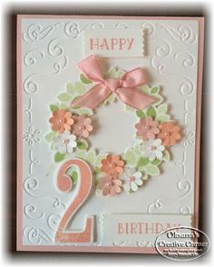 Oksana's Creative Corner: Birthday Card for Baby Girl; Stampin Up; Number of Years; Large Numbers