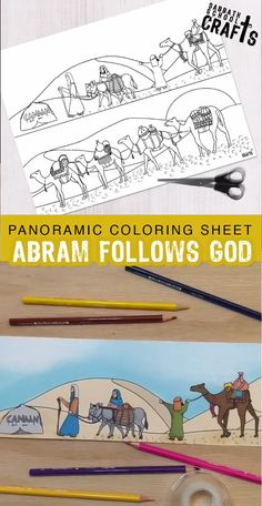 Free panoramic coloring sheet. God promised Abram He'd make him into a mighty nation. But the first step was to follow God to Canaan!