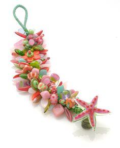 stephanie sersich — pink & green knotted bracelet