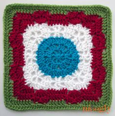Summer Romance Afghan Square! Come join the Moogly 2014 Afghan CAL and crochet-a-long with us! :D