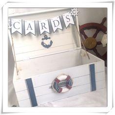 Wedding Card Holder  Nautical or Beach Theme Wedding by ChiKaPea