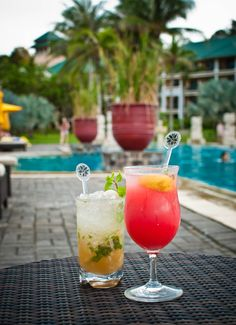 Enjoy your favorite cocktail under the beaming sunlight by the pool