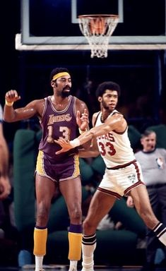 Wilt Chamberlain and Lew Alcindor
