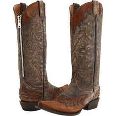 A zipper on cowboy boots??  okay, I can work with that... $209.99