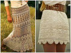10 Amazing Crochet Skirts - free patterns and charts* ༺✿ƬⱤღ  http://www.pinterest.com/teretegui/✿༻