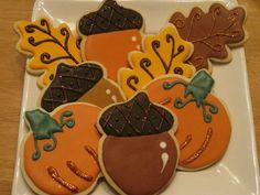 Cutest fall cookies ever! via #TheCookieCutterCompany