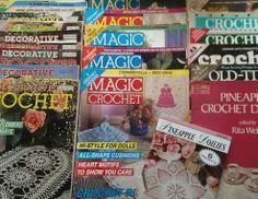 Lot Magic Crochet Decorative Magazine Pattern Doilies Knit Afghan 1980-1999  26