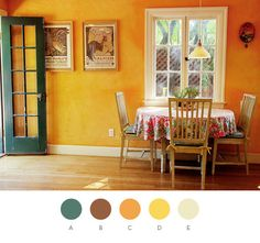 Limewashed - 1st coat: Gold Maize (Pratt & Lambert), PMS 1375 D) 2nd coat Forsythia (Sherwin-Williams), PMS 116
