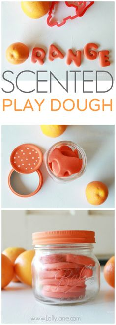 Orange scented play dough recipe via @Lolly Jane {lollyjane.com}