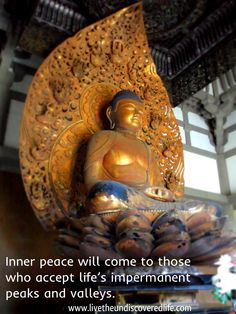 Inner peace quote.