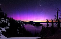 http://onebigphoto.com/uploads/2012/12/aurora-borealis-and-the-milky-way-over-crater-lake.jpg