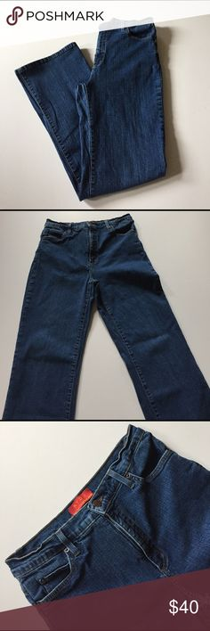 "NYDJ Stretch Bootcut Jeans Excellent condition. Medium wash. Stretch, bootcut, high waisted. Size 10. 96% cotton, 4% spandex. Waist 28"", rise 11"", inseam 31. Not from a smoke free house. 283 NYDJ Jeans Boot Cut"