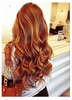 Love the red color: great idea for highlights