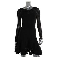 READ CAREFULLY!-DIANE VON FURSTENBERG 6204 NEW Womens Black Long Sleeves Dress #DianeVonFurstenberg #Sexy #Cocktail