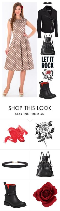 Let it rock by marinaova on Polyvore featuring rag & bone, Alexander Wang, Humble Chic, Forever 21, casual, biker, polkadot, jacket and plus size clothing