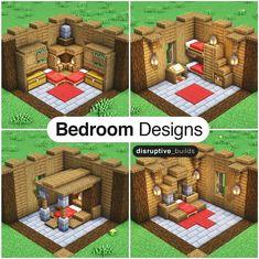 Minecraft, Pixel Art, Survival, Interior Design, Bedroom, Holiday Decor, Create, Pocket Edition, Instagram