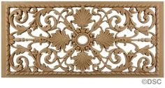 "Rosette or grille design: Grille - 20 "" W x 10"" H from Decorators Suppy, Chicago"