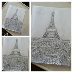 My drawing of Eiffel tower