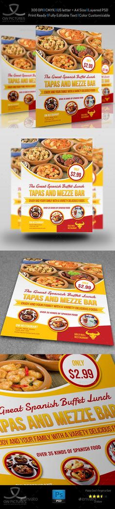 Pizza - Template For Poster / Flyer | Flyer Template, Business