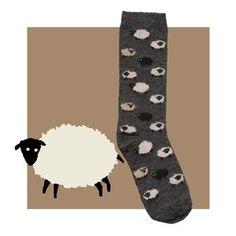 Fun Sheep Socks from RedMaple Sportswear.