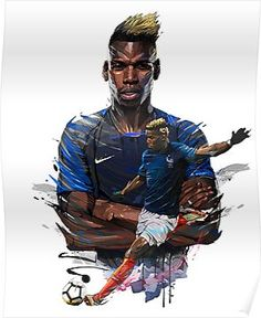 Hotel Equipe de France de Football - World Cup 2018 - Ego - AlterEgo Art Football, Football 2018, Soccer Art, Best Football Players, Soccer Players, Paul Pogba, Pogba Wallpapers, American Football, France World Cup 2018