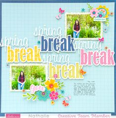 Scrapbook Page Layouts, Scrapbook Pages, Scrapbooking, Sweet Home Collection, Paper Crafts, Diy Crafts, Frame It, Small Flowers, Spring Break
