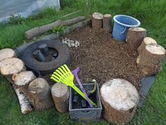 Toddler Play Garden - Build a little space for your little one to dig, bury and dig things up that doesn't include your beautiful flowers :)