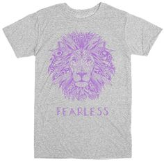 Important Sizing Note: Because this is a unisex tee women may wish to order one size smaller. You probably know a lion-hearted little one who never seems to sho