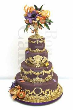 Wedding Cake Images Pretty Cakes Purple Round