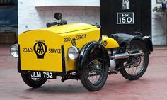 A 1948 DOT 125cc AA motorcycle truck, part of the Exmoor Classic Car Museum Collection - the retirement project of keen collector Stephen Johns