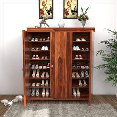 c38af35e563 Buy Ruben Shoe Rack (Teak Finish) Online in India - Wooden Street