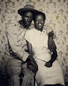 Black Love, A portrait of two sweethearts, 1940s, Black Couples, My Black Is Beautiful, Beautiful Couple, Vintage Love, Vintage Couples, Vintage Black, African American History, Look At You