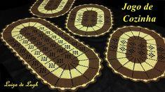 Crochet Table Mat, Crochet Placemats, Crochet Doilies, Crochet Home, Free Crochet, Baby Knitting Patterns, Crochet Patterns, Diy And Crafts, Crafts For Kids