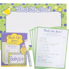 Think Like Mom Baby Shower Game - Party City 8.99 for 50